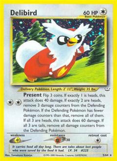 Pokemon Neo Revelation Rare Holo Delibird #5