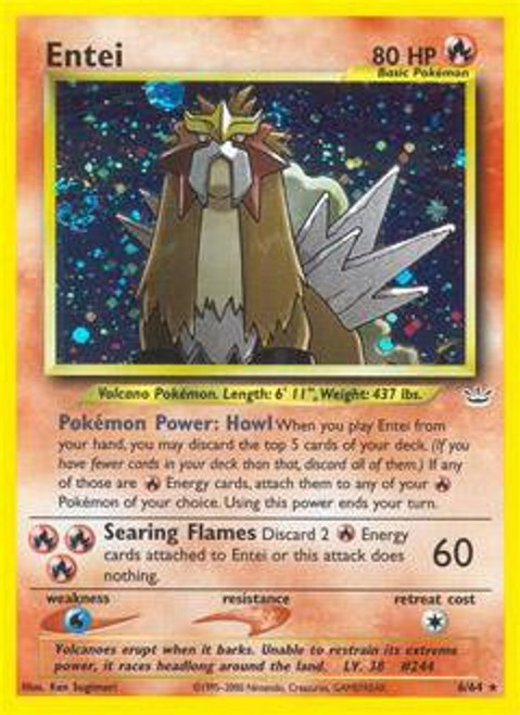 Pokemon Neo Revelation Rare Holo Entei #6