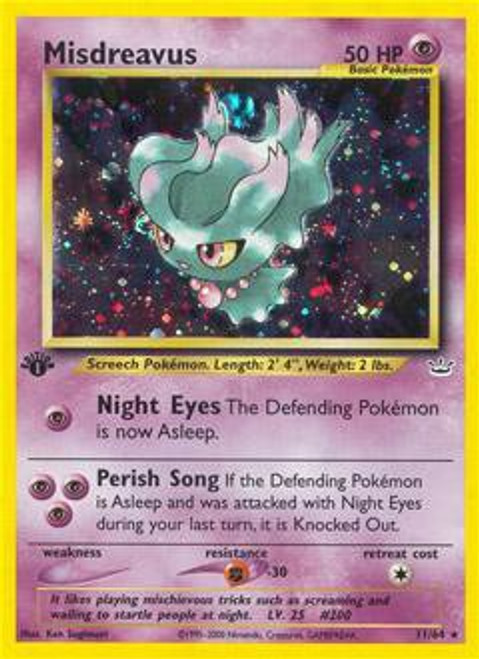 Pokemon Neo Revelation Rare Holo Misdreavus #11