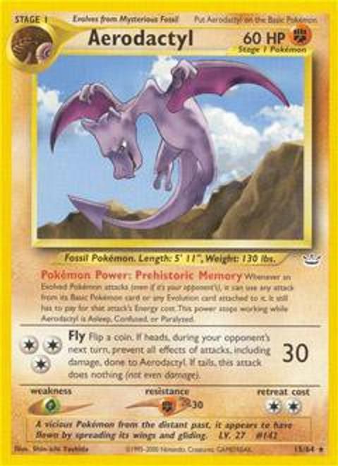 Pokemon Neo Revelation Rare Aerodactyl #15
