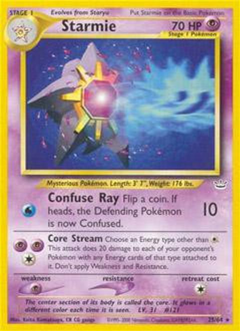 Pokemon Neo Revelation Rare Starmie #25