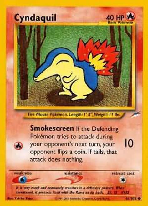 Pokemon Neo Destiny Common Cyndaquil #61