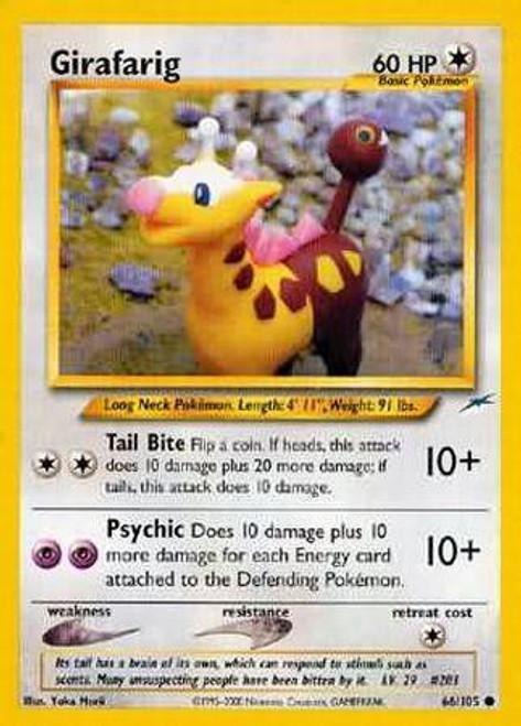 Pokemon Neo Destiny Common Girafarig #66