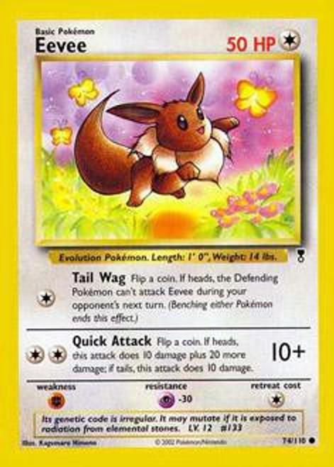 Pokemon Legendary Collection Common Eevee #74