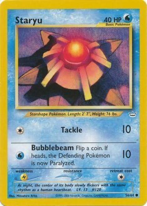 Pokemon Neo Revelation Common Staryu #56