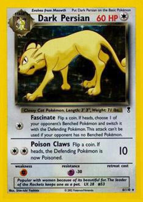 Pokemon Legendary Collection Rare Holo Dark Persian #6