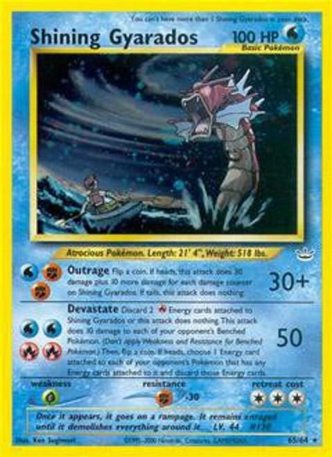 Pokemon Neo Revelation Rare Holo Shining Gyarados #65