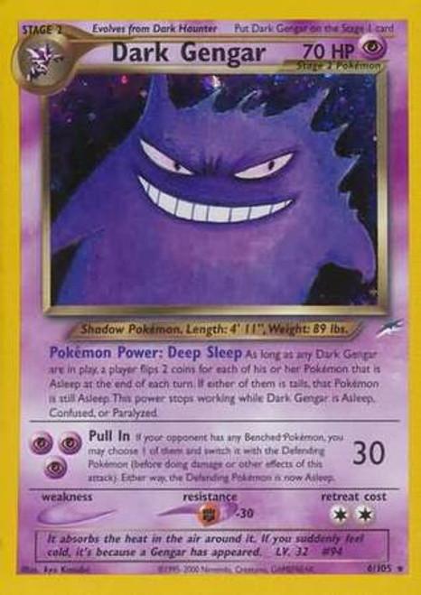 Pokemon Neo Destiny Rare Holo Dark Gengar #6