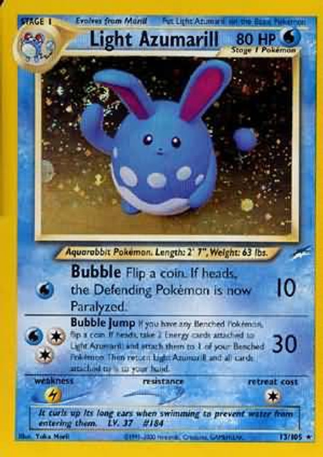 Pokemon Neo Destiny Rare Holo Light Azumarill #13