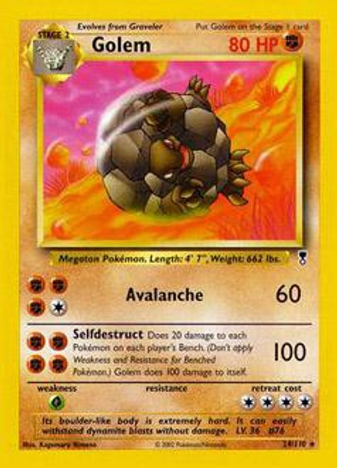 Pokemon Legendary Collection Rare Golem #24