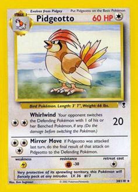Pokemon Legendary Collection Rare Pidgeotto #34