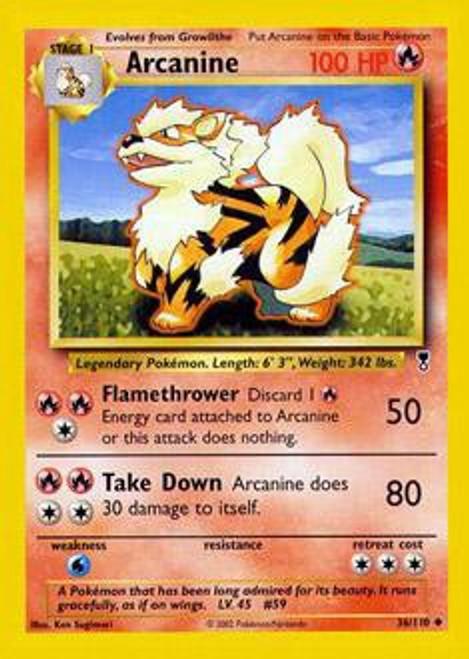 Pokemon Legendary Collection Uncommon Arcanine #36