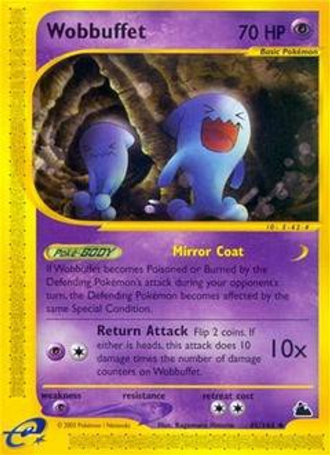 Pokemon Skyridge Uncommon Wobbuffet #45
