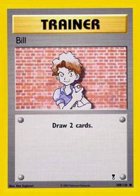 Pokemon Legendary Collection Common Bill #108