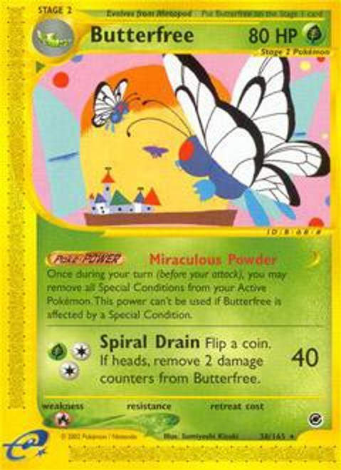 Pokemon Expedition Base Set Rare Butterfree #38