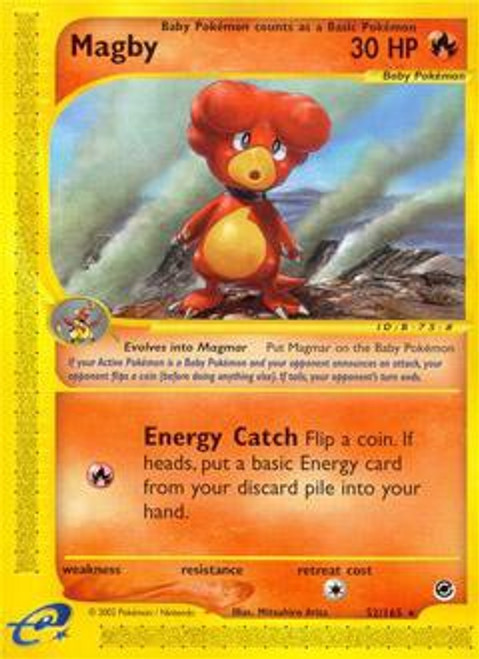 Pokemon Expedition Base Set Rare Magby #52