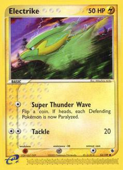 Pokemon EX Ruby & Sapphire Common Electrike #53