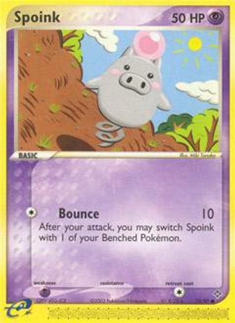 Pokemon Trading Card Game EX Dragon Common Spoink #73