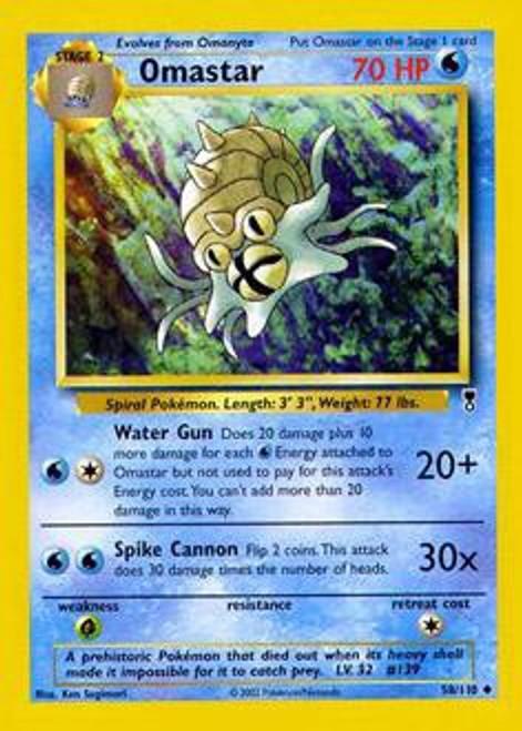 Pokemon Legendary Collection Uncommon Omastar #58