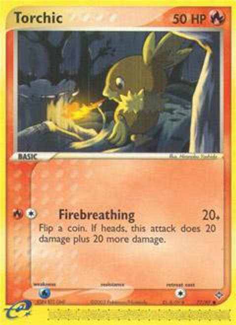 Pokemon Trading Card Game EX Dragon Common Torchic #77