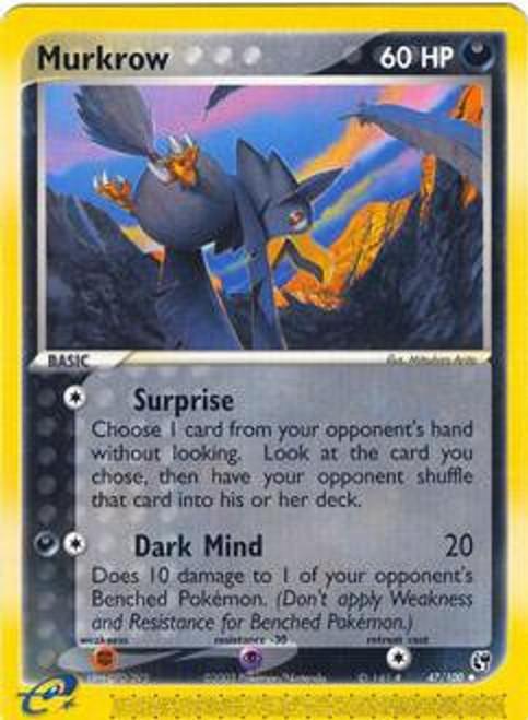 Pokemon EX Sandstorm Uncommon Murkrow #47