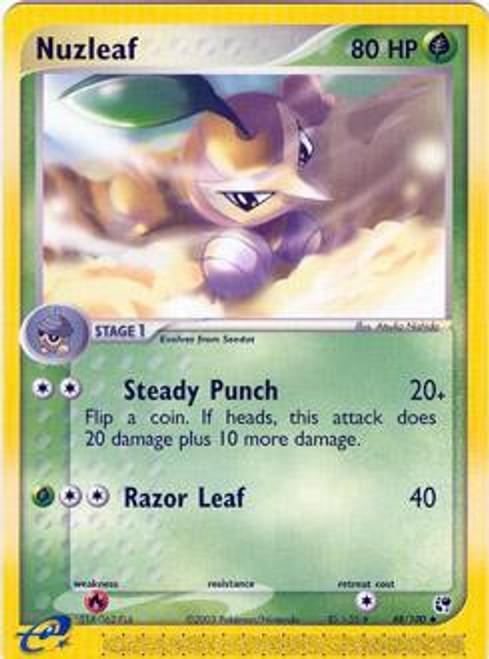 Pokemon EX Sandstorm Uncommon Nuzleaf #48