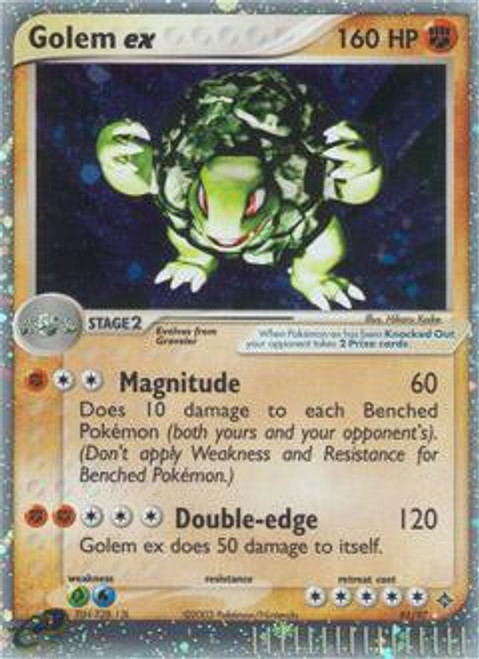 Pokemon Trading Card Game EX Dragon Ultra Rare Golem ex #91