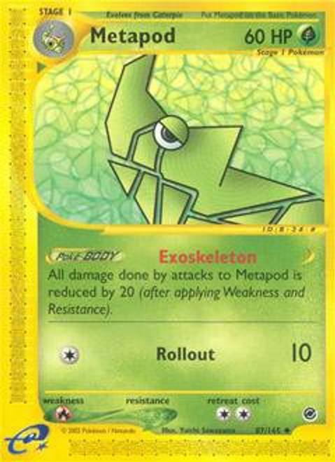 Pokemon Expedition Base Set Uncommon Metapod #87