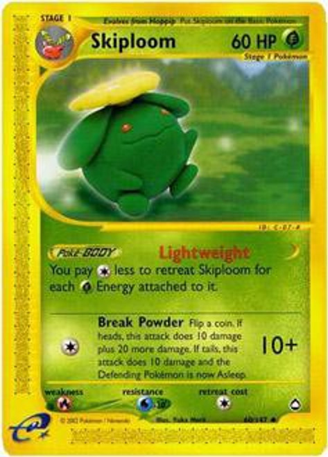 Pokemon Aquapolis Uncommon Skiploom #60