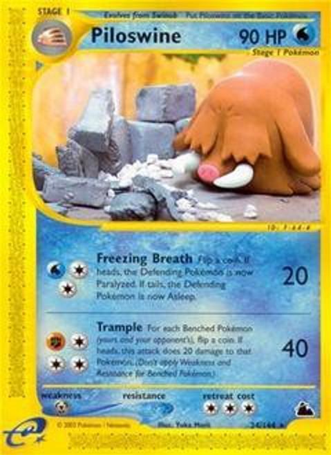 Pokemon Skyridge Rare Piloswine #24