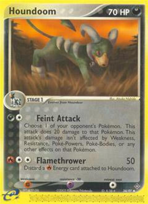 Pokemon Trading Card Game EX Dragon Uncommon Houndoom #34