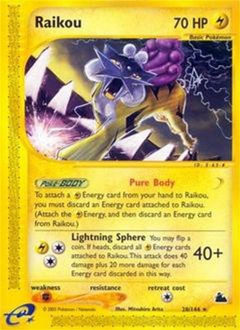 Pokemon Skyridge Rare Raikou #28