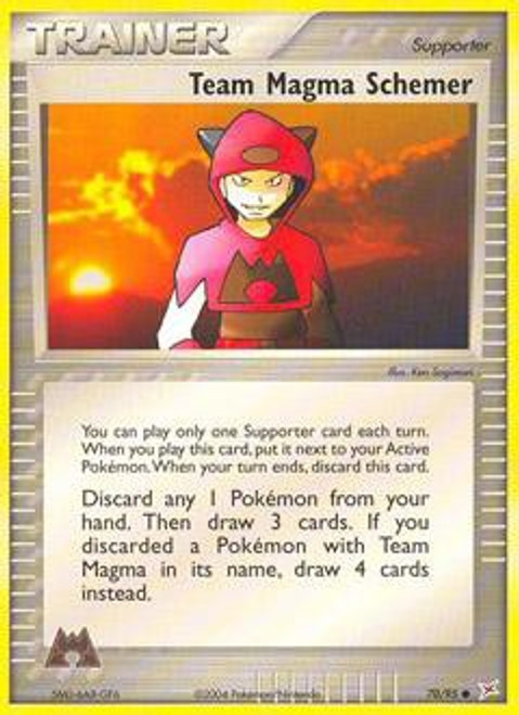 Pokemon EX Team Magma vs Team Aqua Common Team Magma Schemer #70