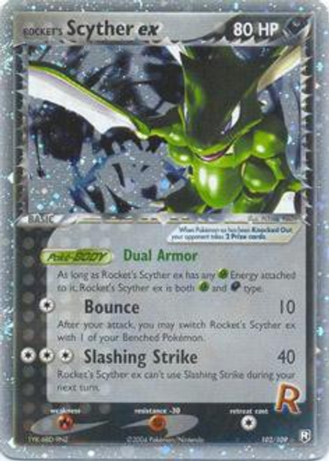 Pokemon Team Rocket Returns Ultra Rare Rocket's Scyther ex #102
