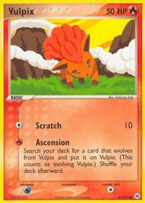 Pokemon EX Hidden Legends Common Vulpix #81