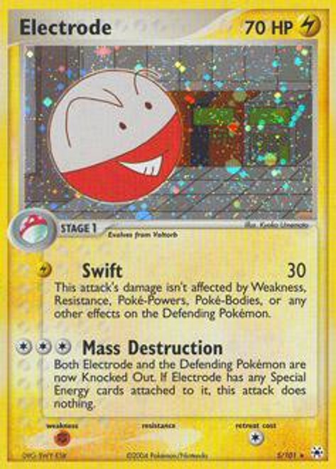 Pokemon EX Hidden Legends Rare Holo Electrode #5