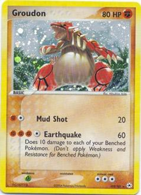 Pokemon EX Hidden Legends Rare Holo Groudon #102