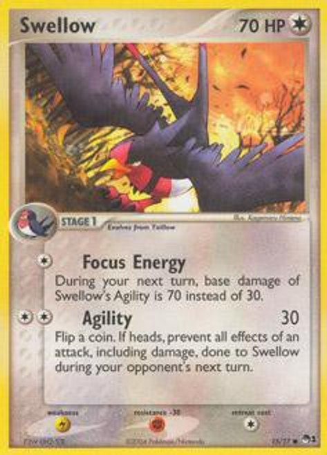 Pokemon Trading Card Game Organized Play Series 1 Common Swellow #15