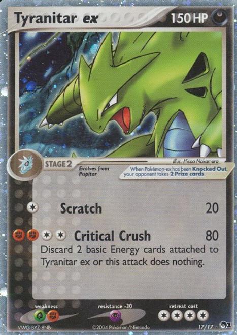 Pokemon Trading Card Game Organized Play Series 1 Ultra Rare Tyranitar ex #17