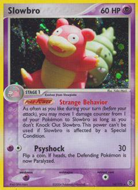 Pokemon EX Fire Red & Leaf Green Rare Holo Slowbro #14