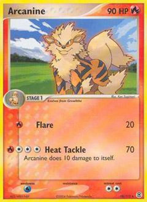 Pokemon EX Fire Red & Leaf Green Rare Arcanine #18