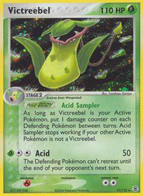 Pokemon EX Fire Red & Leaf Green Rare Holo Victreebel #17