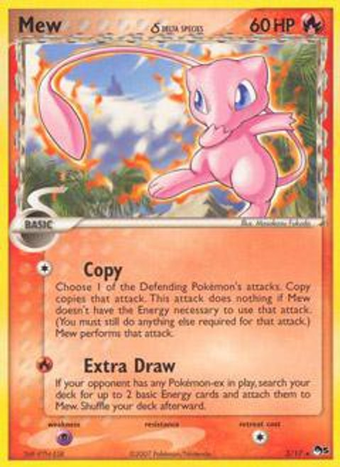 Pokemon Trading Card Game Organized Play Series 5 Rare Mew (Delta Species) #3