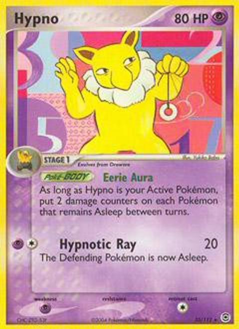 Pokemon EX Fire Red & Leaf Green Rare Hypno #25