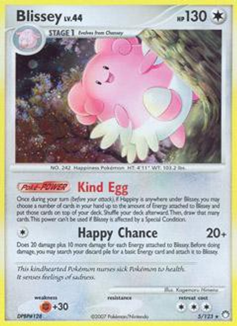Pokemon Diamond & Pearl Mysterious Treasures Rare Blissey #5