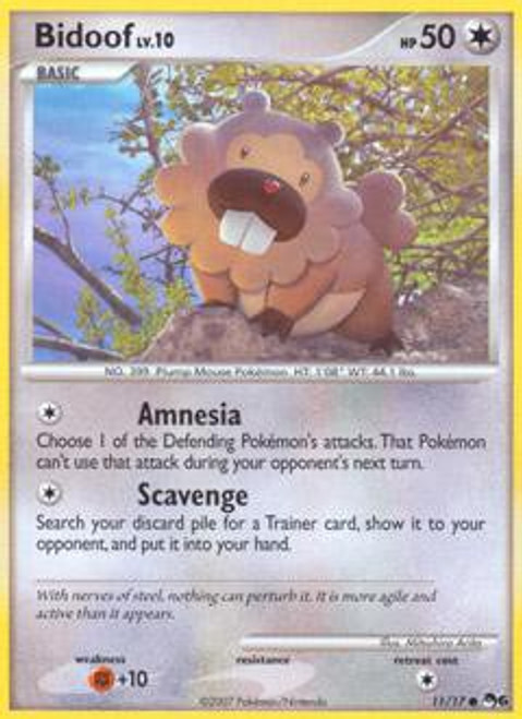 Pokemon Trading Card Game Organized Play Series 6 Common Bidoof #11