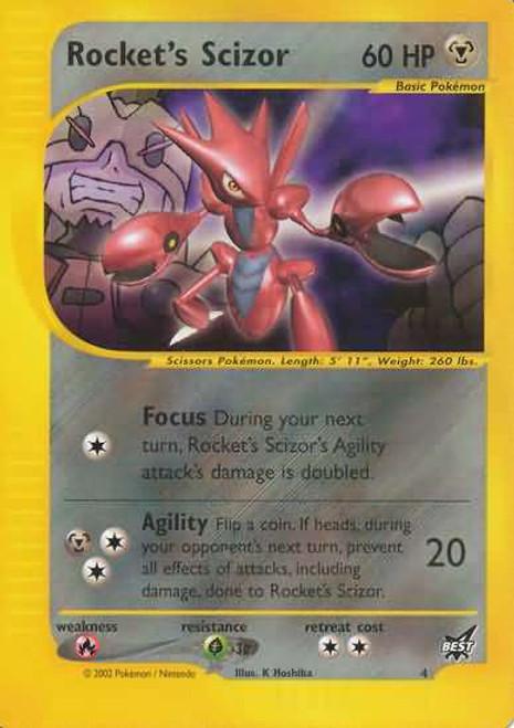 Pokemon Trading Card Game Promo Cards Rare Rocket's Scizor #4 [Best Of Promo]