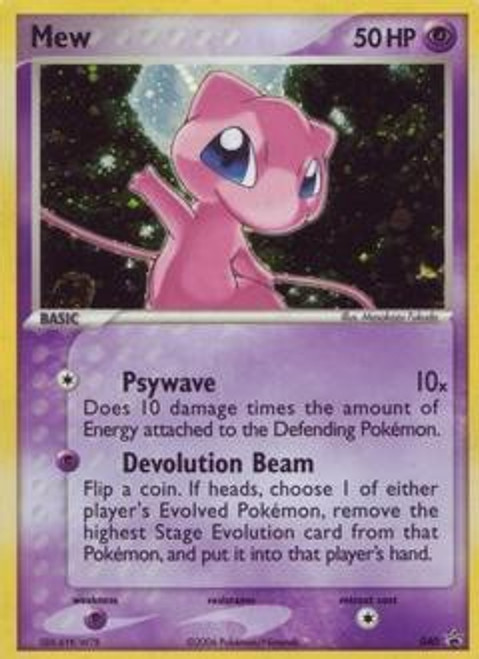 Pokemon Trading Card Game Promo Cards Rare Holo Mew #040