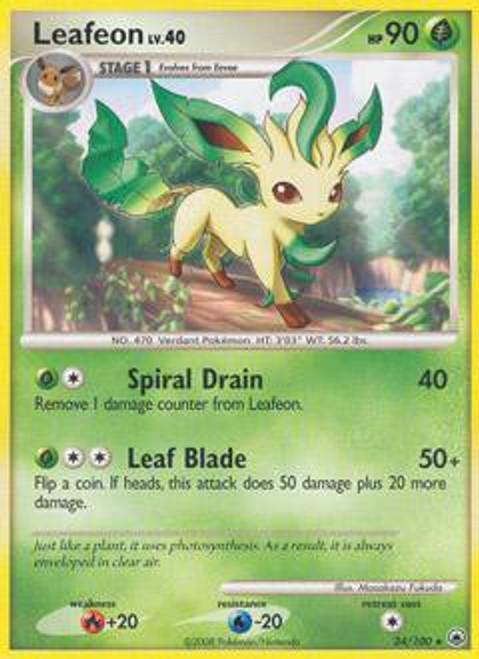 Pokemon Diamond & Pearl Majestic Dawn Rare Leafeon #24