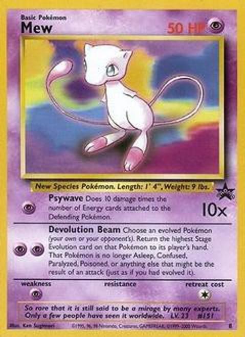 Pokemon Promo Cards WotC Promo Mew #8